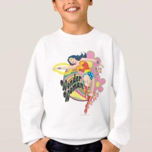 Wonder Woman Retro Flowers Sweatshirt