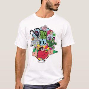 Teen Titans Go! | Team Group Graphic T-Shirt