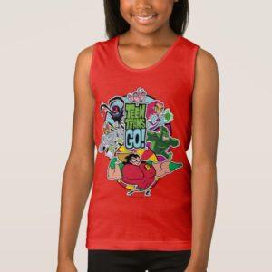 Teen Titans Go! | Team Group Graphic Tank Top