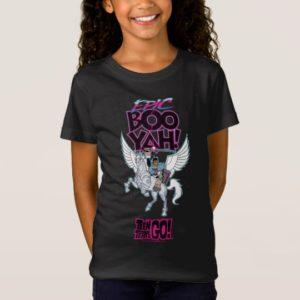 Teen Titans Go!   Warrior Cyborg Riding Pegasus T-Shirt