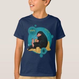 Cartoon NIFFLER™ With Gold Coins T-Shirt