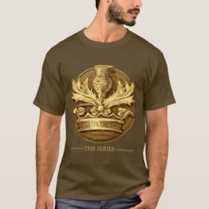 Outlander   The Thistle Of Scotland Emblem T-Shirt