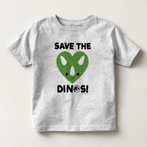 Jurassic World | Save the Dinos - Green Heart 2 Toddler T-shirt