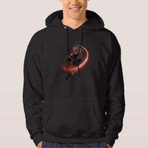 Aquaman | Black Manta Red Swipe Graphic Hoodie
