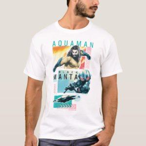 Aquaman | Modernist Aquaman & Black Manta Graphic T-Shirt