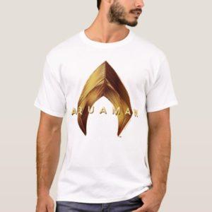 Aquaman   Golden Aquaman Logo T-Shirt