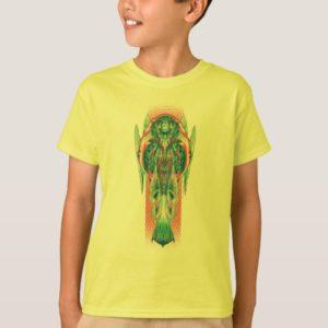 Aquaman | Queen Fisherman Art Nouveau Panel T-Shirt