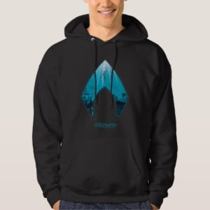 Aquaman | See Through Aquaman Logo Ocean Graphic Hoodie