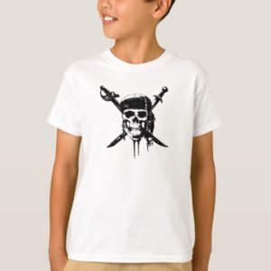 Black and White Pirate Skull and Swords T-Shirt