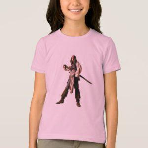 Captain jack sparrow standing drawing sword T-Shirt