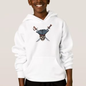 Skulle and Cross Swords with Pirate Hat Disney Hoodie
