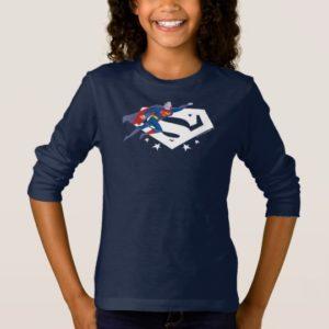 Justice League Action | Superman Over S-Shield T-Shirt