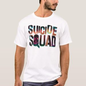 Suicide Squad   Colorful Glow Logo T-Shirt
