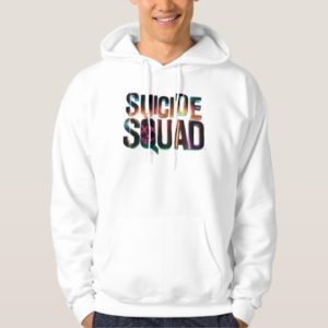 Suicide Squad   Colorful Glow Logo Hoodie