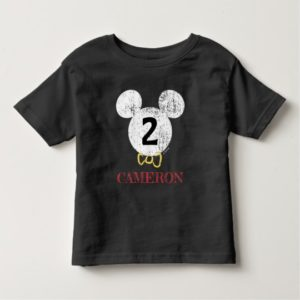 Mickey Mouse Icon Chalkboard Toddler T-shirt