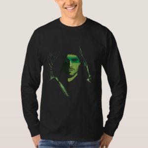 Arrow | Green Arrow Green Stylized Cutout T-Shirt