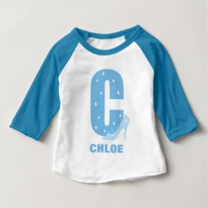 C is for Cinderella | Add Your Name Baby T-Shirt
