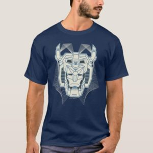 Voltron | Voltron Head Blue and White Outline T-Shirt