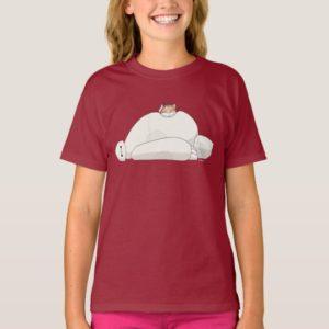 Mochi Laying on Baymax T-Shirt