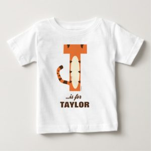 T is for Tigger | Add Your Name Baby T-Shirt