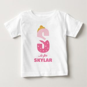 S is for Sleeping Beauty | Add Your Name Baby T-Shirt