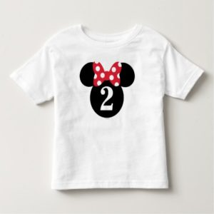 Minnie Mouse | Red & White Polka Dot Birthday Toddler T-shirt