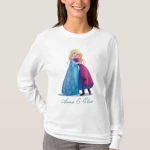 Anna and Elsa   Hugging T-Shirt