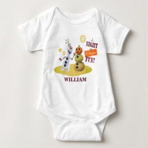 Olaf   A Night of Frozen Fun Baby Bodysuit