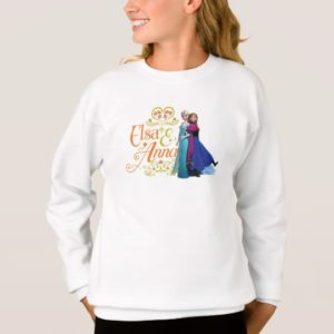 Anna and Elsa   Standing Back to Back Sweatshirt