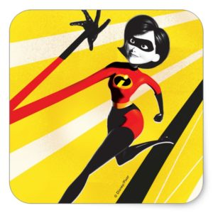Incredibles 2 | Mrs. Incredible | Elastigirl Square Sticker