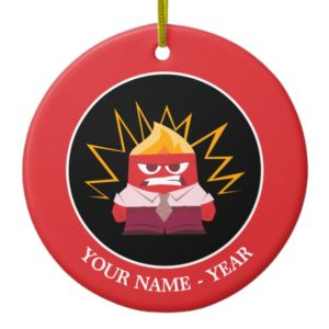 Inside Out | Anger Standing Add Your Name Ceramic Ornament