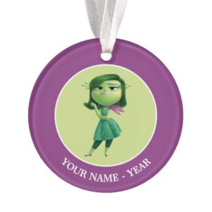 Inside Out | Disgust Standing Add Your Name Ornament