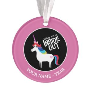 Inside Out | Rainbow Unicorn Add Your Name Ornament