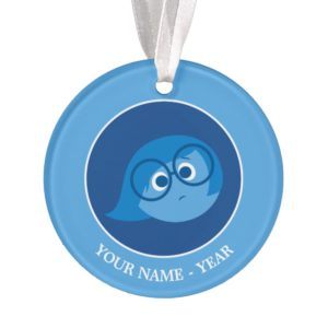 Inside Out | Sadness Face Add Your Name Ornament