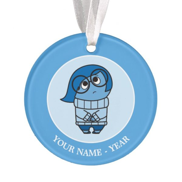 Inside Out | Sadness Sigh Add Your Name Ornament