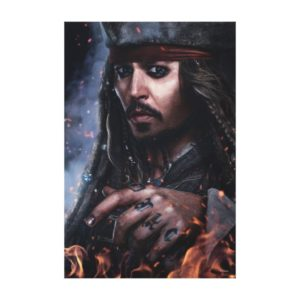 Jack Sparrow - Legendary Pirate Canvas Print
