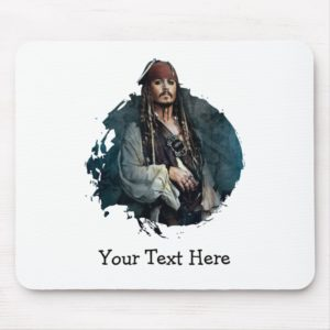 Jack Sparrow Portrait 2 Mouse Pad