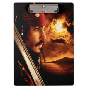 Jack Sparrow Side Face Shot Clipboard
