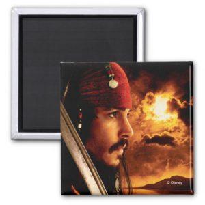 Jack Sparrow Side Face Shot Magnet