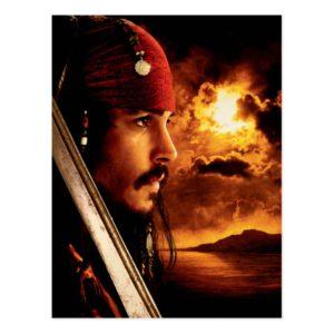 Jack Sparrow Side Face Shot Postcard