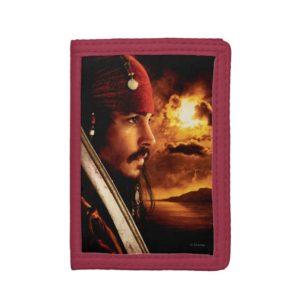 Jack Sparrow Side Face Shot Tri-fold Wallet
