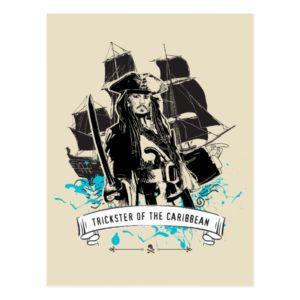 Jack Sparrow - Trickster of the Caribbean Postcard