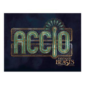 Jade Art Deco ACCIO™ Spell Graphic Postcard