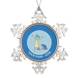 Joy and Sadness Together Add Your Name Snowflake Pewter Christmas Ornament