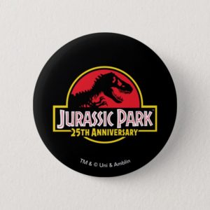 Jurassic Park 25th Anniversary Logo Button