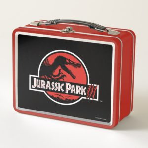 Jurassic Park III Logo Metal Lunch Box