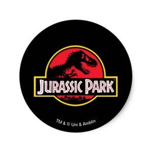 Jurassic Park Logo Classic Round Sticker