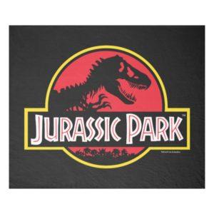 Jurassic Park Logo Fleece Blanket