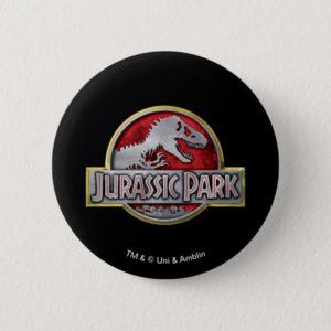 Jurassic Park | Metal Logo Button