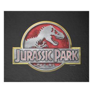Jurassic Park | Metal Logo Fleece Blanket